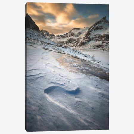 Winter Mountains - Lofoten Norway Canvas Print #RFL152} by Rafal Kaniszewski Canvas Print