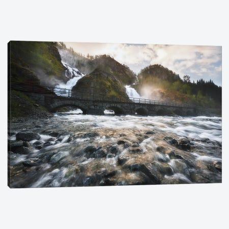 Latefossen Waterfall - Norway Canvas Print #RFL169} by Rafal Kaniszewski Canvas Wall Art