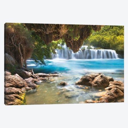 Krka Waterfall - Croatia Canvas Print #RFL173} by Rafal Kaniszewski Canvas Print