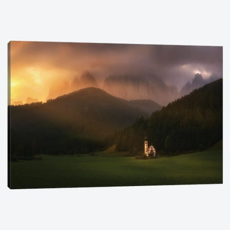 Santa Magdalena Dolomites - Italy Canvas Print #RFL181} by Rafal Kaniszewski Canvas Artwork