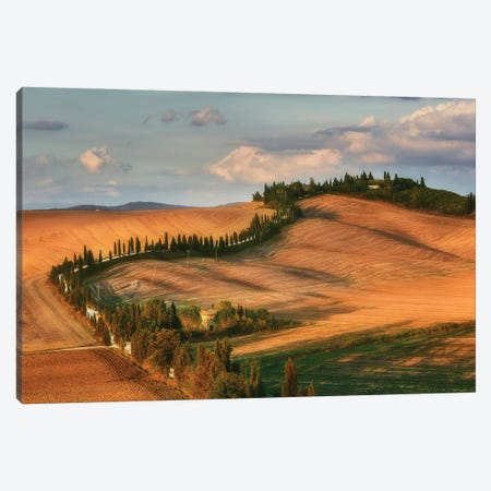 Tuscany Sunset - Italy Canvas Print #RFL183} by Rafal Kaniszewski Canvas Wall Art