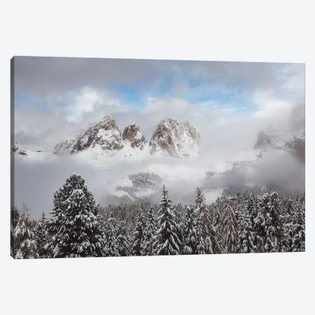 Winter Panorama Passo Sella - Dolomites Canvas Print #RFL184} by Rafal Kaniszewski Canvas Print