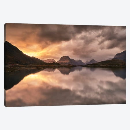 Sunset In Lofoten - Norway Canvas Print #RFL188} by Rafal Kaniszewski Canvas Artwork
