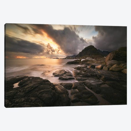 Magical Sunset - Lofoten Canvas Print #RFL192} by Rafal Kaniszewski Canvas Art Print