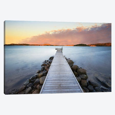 Sunrise Over The Lake - Sweden Canvas Print #RFL196} by Rafal Kaniszewski Canvas Art