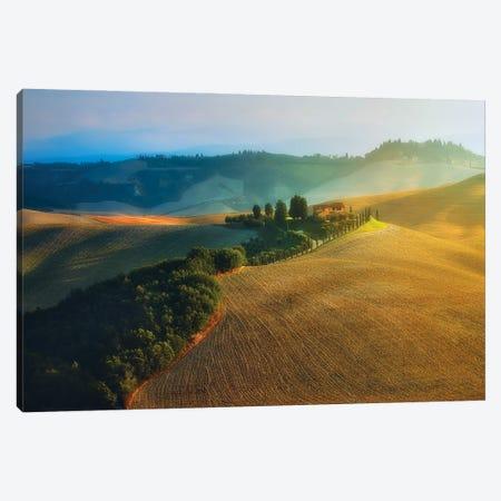 Beautiful Tuscany Morning - Italy Canvas Print #RFL198} by Rafal Kaniszewski Canvas Art Print