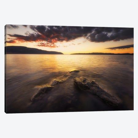 Sunset Over Mjosa Lake In Norway Canvas Print #RFL203} by Rafal Kaniszewski Canvas Print