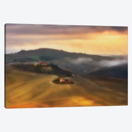 Tuscany Cottages - Italy Canvas Print #RFL204} by Rafal Kaniszewski Canvas Artwork