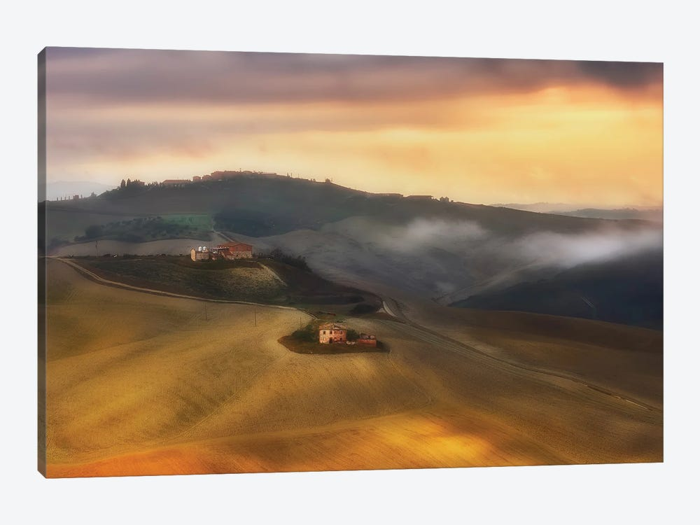 Tuscany Cottages - Italy by Rafal Kaniszewski 1-piece Canvas Print