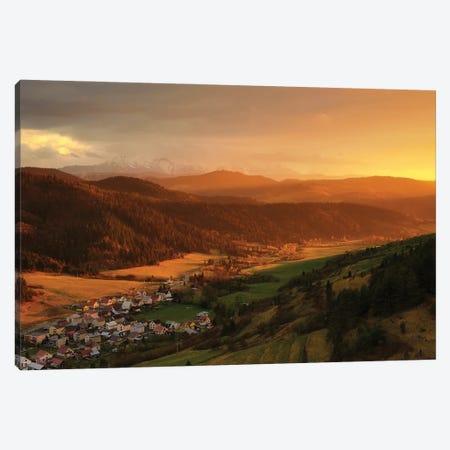 Beautiful Sunset In Slovakia Mountains Canvas Print #RFL205} by Rafal Kaniszewski Canvas Art