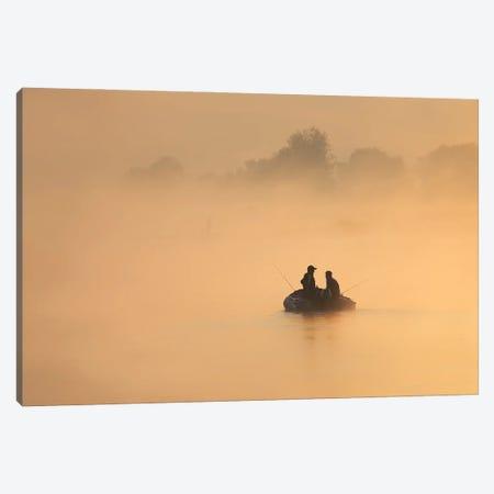 Morning Fishing - Vistula River - Poland Canvas Print #RFL206} by Rafal Kaniszewski Canvas Wall Art