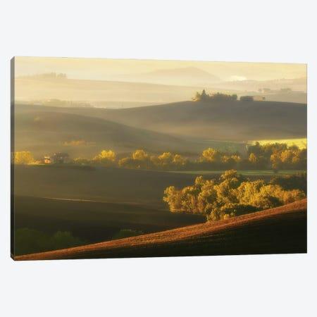 Spectacular Morning In Tuscany - Italy Canvas Print #RFL208} by Rafal Kaniszewski Canvas Art Print