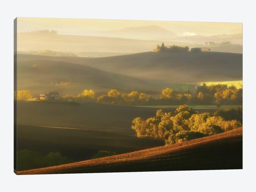 Spectacular Morning In Tuscany - Italy by Rafal Kaniszewski 1-piece Canvas Print