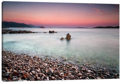 Sunset Over The Adriatic Sea - Croatia Canvas Art Print