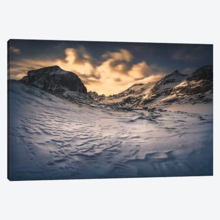 Winter Mountains In Lofoten - Norway Canvas Print #RFL216} by Rafal Kaniszewski Canvas Print