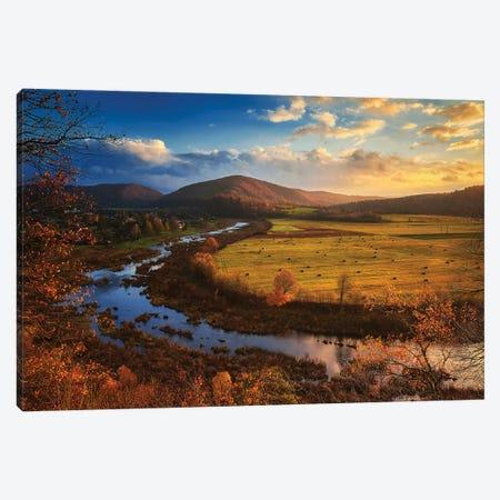 Autumn In Bieszczady Mountains - Poland Canvas Print #RFL218} by Rafal Kaniszewski Canvas Wall Art
