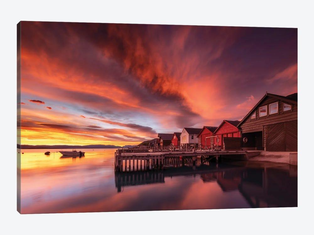 Red Sunset In Rosendal - Norway by Rafal Kaniszewski 1-piece Canvas Art Print