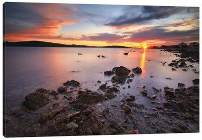 Sunset In Vodice - Croatia Canvas Art Print