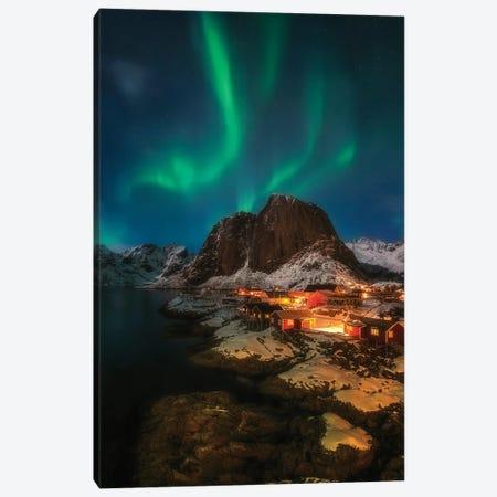 Aurora Borealis - Lofoten - Noway Canvas Print #RFL232} by Rafal Kaniszewski Canvas Art