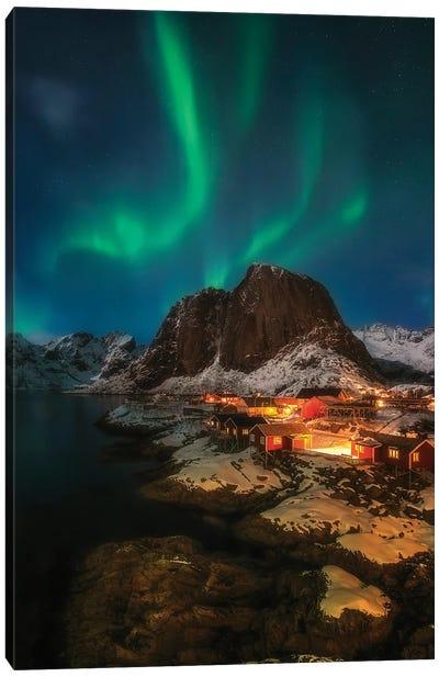 Aurora Borealis - Lofoten - Noway Canvas Art Print