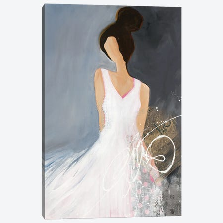 Lady With Big Bun Canvas Print #RFM4} by Ruth Fromstein Canvas Art Print