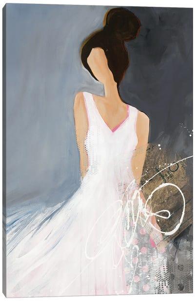 Lady With Big Bun Canvas Art Print