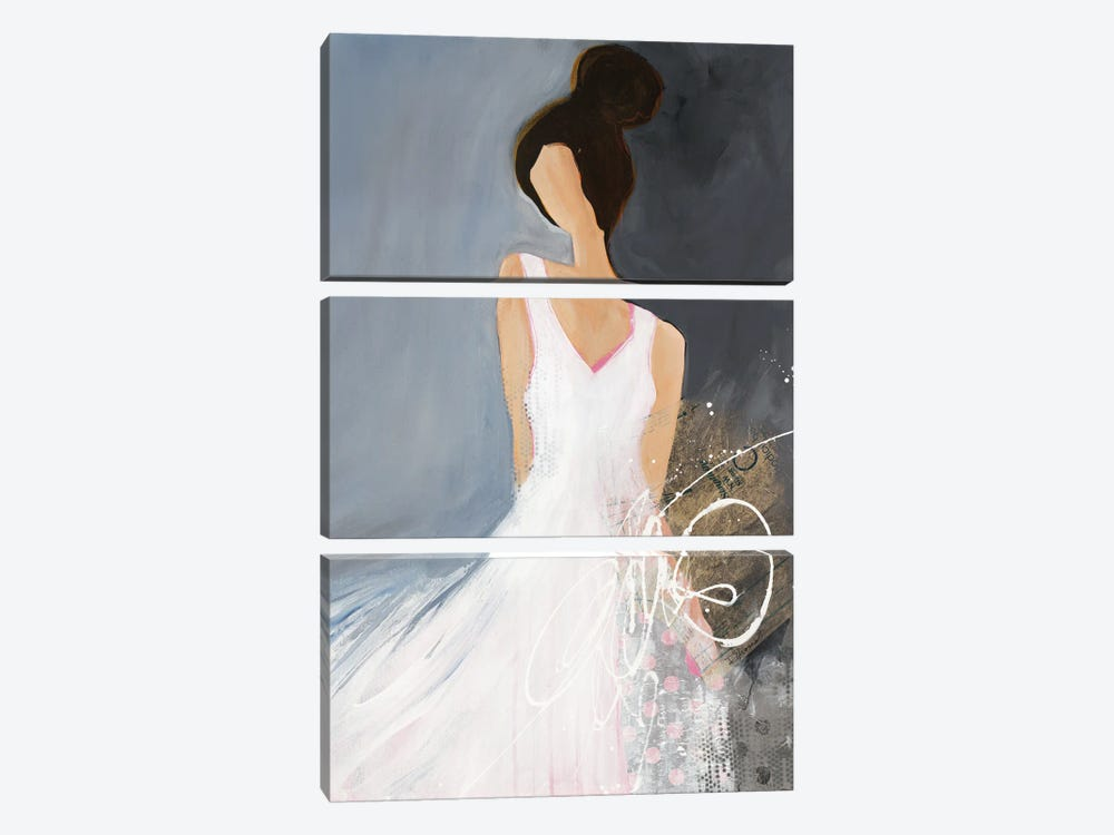 Lady With Big Bun by Ruth Fromstein 3-piece Canvas Artwork
