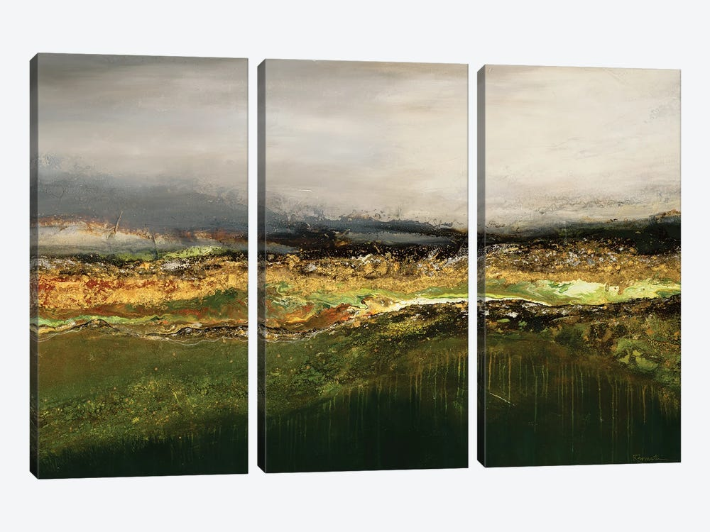 Off In The Distance by Ruth Fromstein 3-piece Canvas Art Print