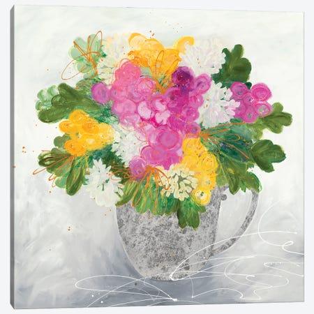 Rose Tea Canvas Print #RFM6} by Ruth Fromstein Art Print