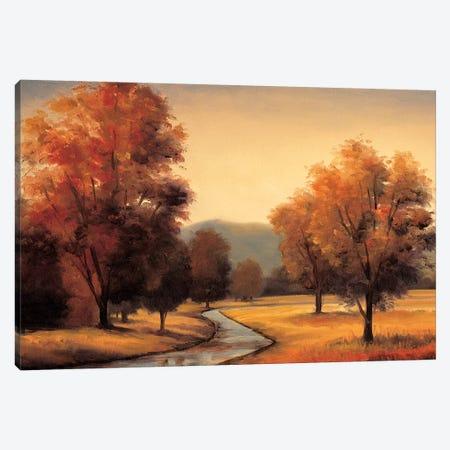 By The Stream Canvas Print #RFR3} by Ryan Franklin Canvas Artwork