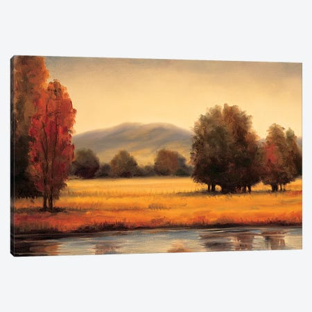 River's Edge Canvas Print #RFR9} by Ryan Franklin Canvas Artwork