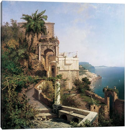 In The Garden, Amalfi Canvas Art Print