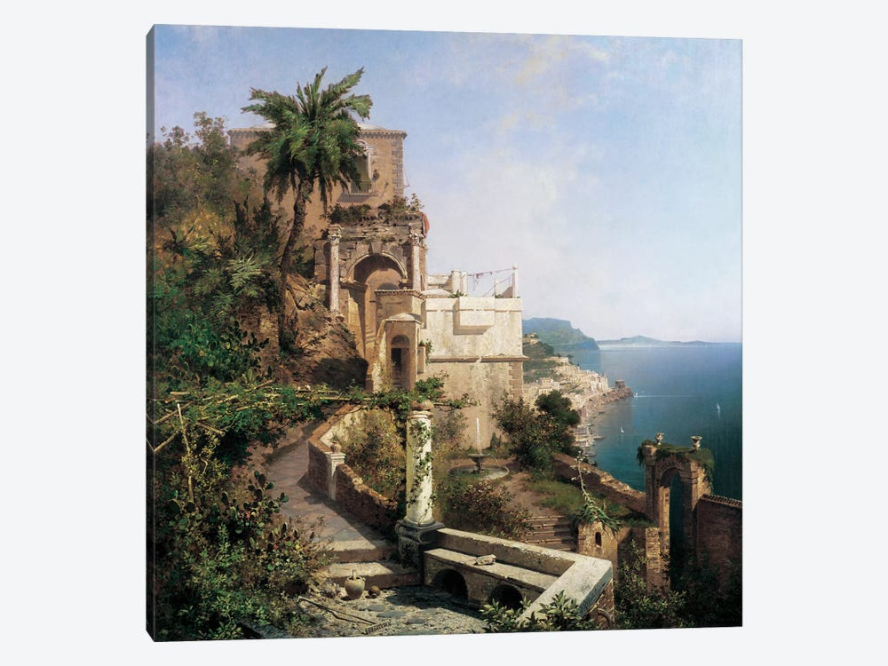 In The Garden, Amalfi by Richard Franz Unterberger 1-piece Canvas Print