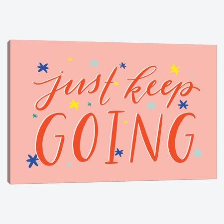 Just Keep Going 3-Piece Canvas #RGA14} by Richelle Garn Art Print