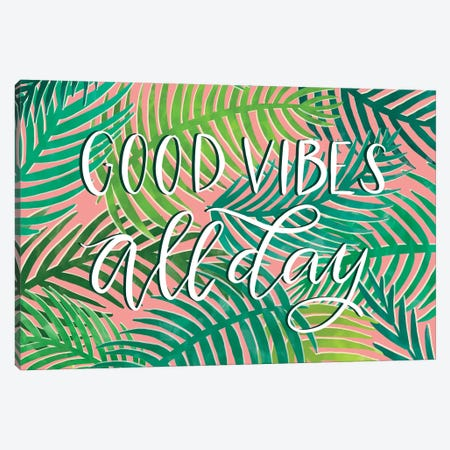 Good Vibes All Day Canvas Print #RGA16} by Richelle Garn Canvas Art Print