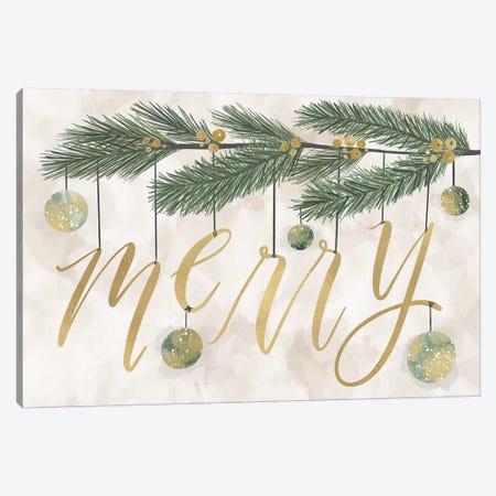 Gilded Christmas Greenery III Canvas Print #RGA40} by Richelle Garn Canvas Print