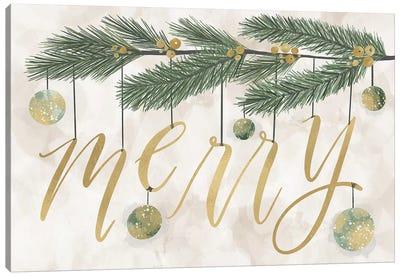 Gilded Christmas Greenery III Canvas Art Print