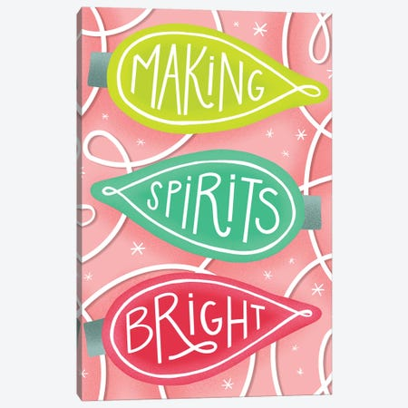 Merry+Bright IV Canvas Print #RGA44} by Richelle Garn Canvas Art