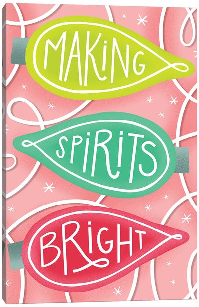 Merry+Bright IV Canvas Art Print