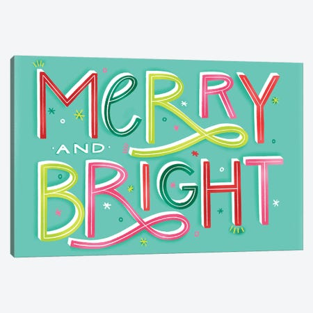 Merry+Bright IX Canvas Print #RGA49} by Richelle Garn Art Print