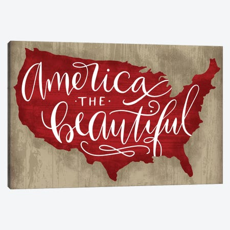 America The Beautiful I Canvas Print #RGA6} by Richelle Garn Canvas Artwork