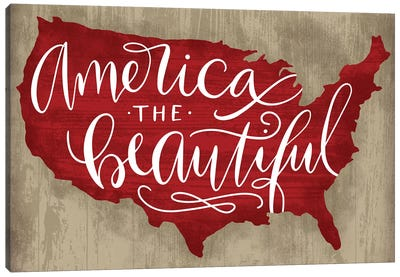 America The Beautiful I Canvas Art Print