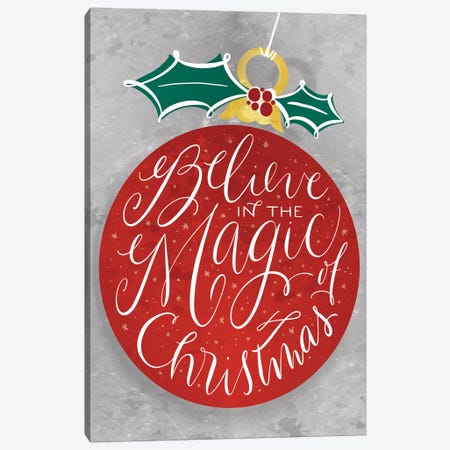 Brilliant Shiny Christmas I Canvas Print #RGA90} by Richelle Garn Canvas Art