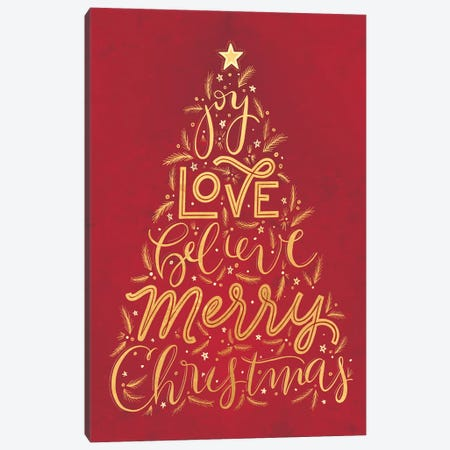 Brilliant Shiny Christmas II Canvas Print #RGA91} by Richelle Garn Canvas Art
