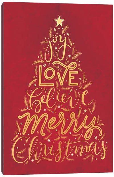 Brilliant Shiny Christmas II Canvas Art Print