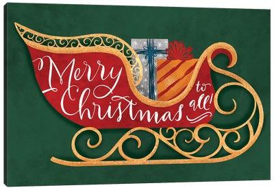 Brilliant Shiny Christmas V Canvas Art Print