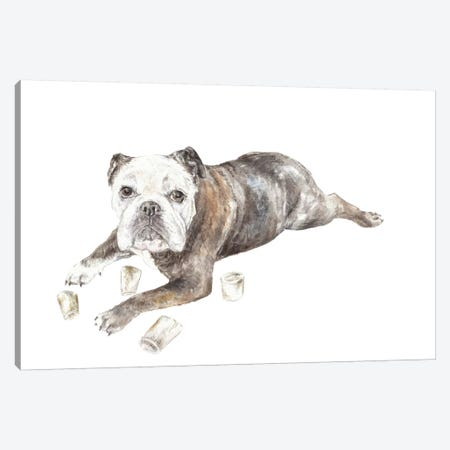 Abbey The Bulldog Canvas Print #RGF103} by Wandering Laur Canvas Artwork
