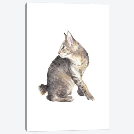 Manx Cat Canvas Print #RGF113} by Wandering Laur Art Print