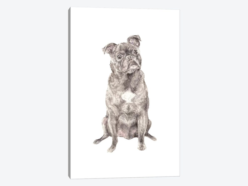 Moses The Pug by Wandering Laur 1-piece Canvas Art Print