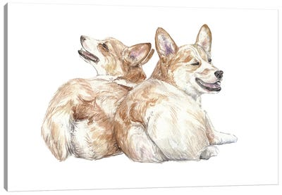 Corgis Canvas Art Print